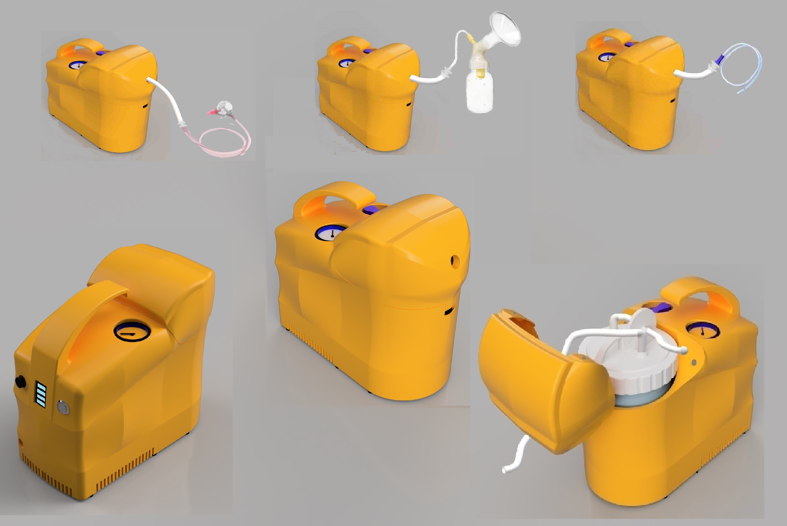 Multi-functional medical suction device