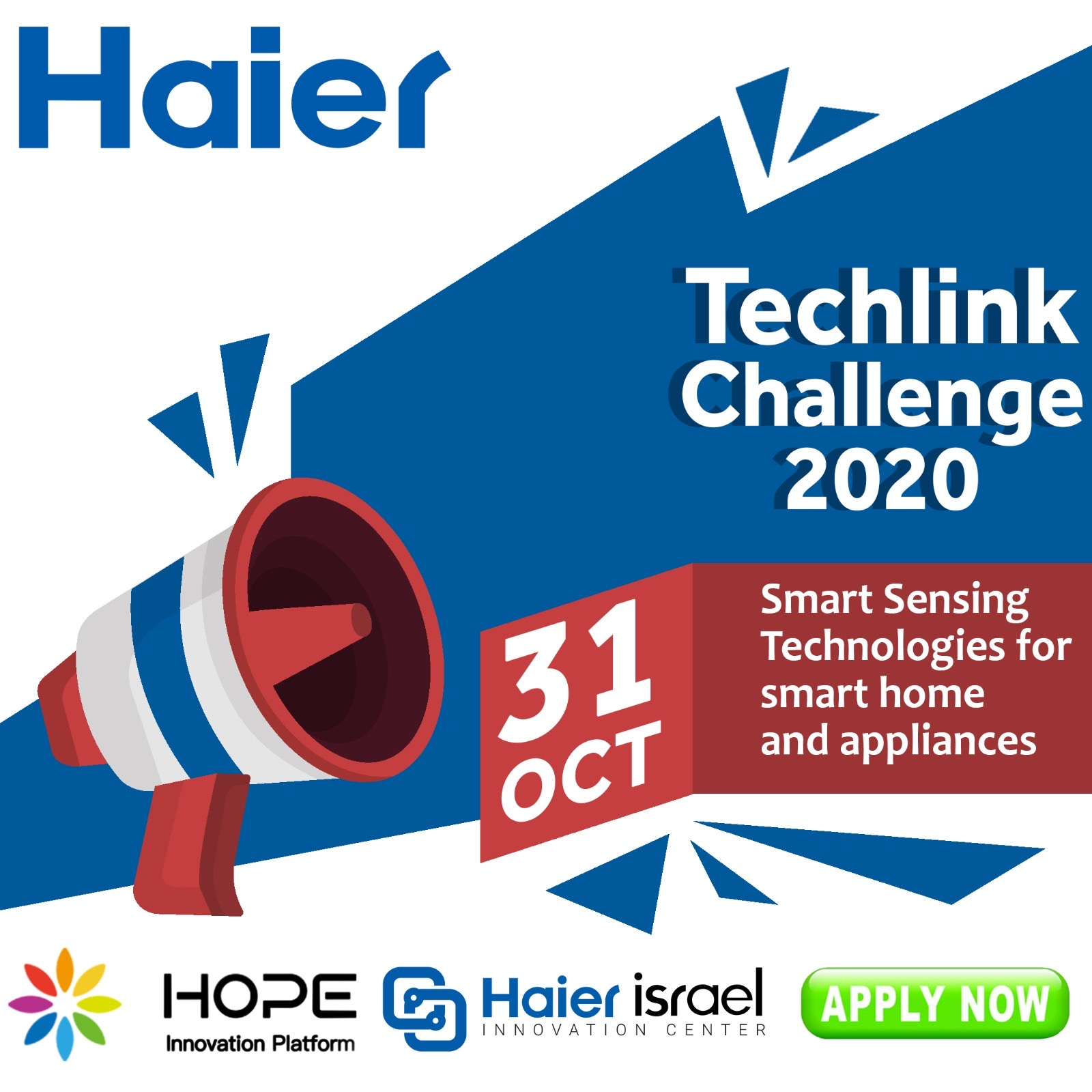 Seeking Smart Sensing Technologies for Smart Home and Appliances - Haier's Techlink Challenge