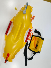 Quick RESCUE. New foldable, self-inflating, light and highly portable device for water rescue and lifesaving