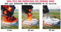 Pressurized foam fire protection system for large diameter atmospheric storage